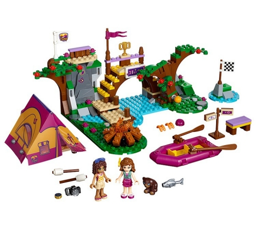 10493 320PCS Friends series Adventure Camp Rafting Building Blocks Toys 41121 Ship From China