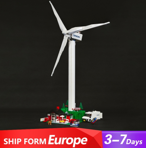 37001 844pcs Creator Sereis Vestas Wind Turbine Building Blocks Toys 10268