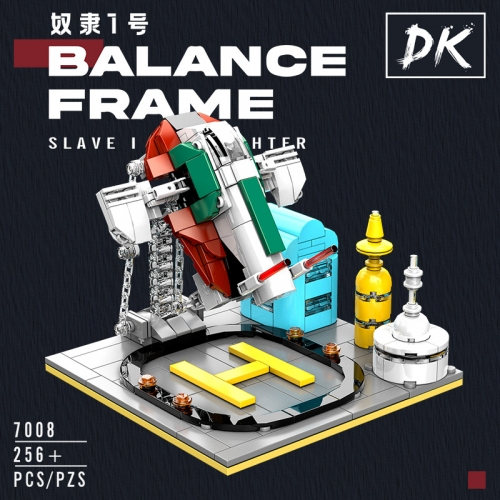 DK7008 Suspension Series Slave No. 1 Balance Frame MOC Model Decoration Small Particle Assembled Building Block Toy Ship From China
