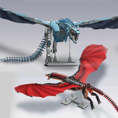 18KSuper Power Tour Giant Dragon Zhuo Geng K89 Ice Dragon Vesselion K90 Assembled Small Particle Building Block Toys Ship From China