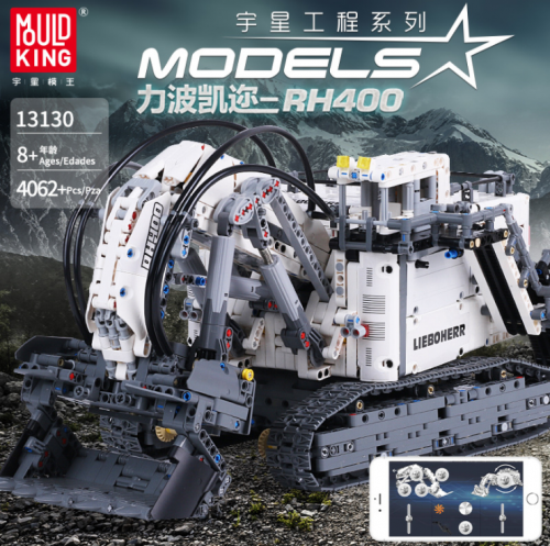 Mould King 13130 Technic Series RH400 Mining Excavator APP Electric Remote Control Building Blocks 4062pcs Brick toys MOC-1874 Ship From China