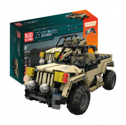 Mould King 13013 Technic Series 13013 Armored Union Military Pickup Truck Building Blocks 495pcs Brick Kids Toys Gifts Ship From China
