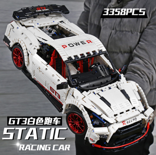 Mould King 13172 Technic Series MOC Super Car GTR 1:8 Model Building Blocks 3358pcs Brick Kids Toys MOC-25326 Ship From China