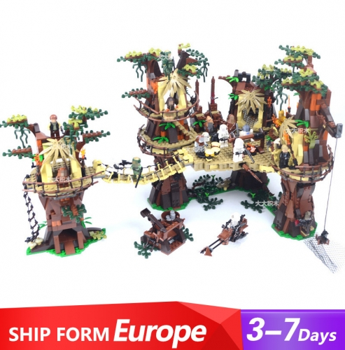 05047 Star Wars Series Ewok Village Building Blocks 1998pcs Bricks Toys For Gift 10236