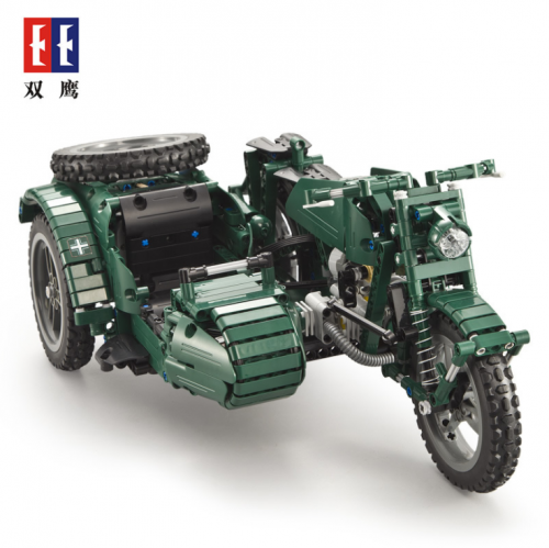C51021 629Pcs Military Series RC Three Wheeled Motorcycle Technic Building Blocks Bricks Remote Control Car Toys Gifts Ship From China