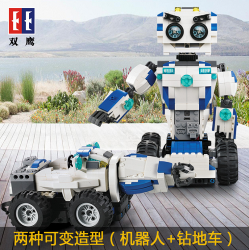C51028 606Pcs 2 IN 1 Mode Transform RC Robot Technic Building Blocks Bricks Car Toys for kids Ship From China