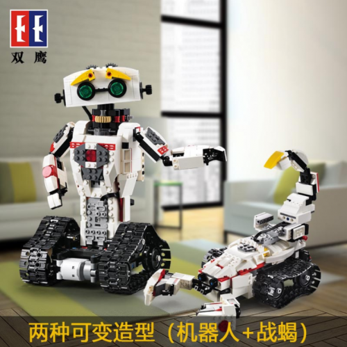C51027 710Pcs Technic RC Transformation Robot MOC 2IN1 Changeable Vehicle 2.4G Remote Control Model Building Bricks child Toys Ship From China