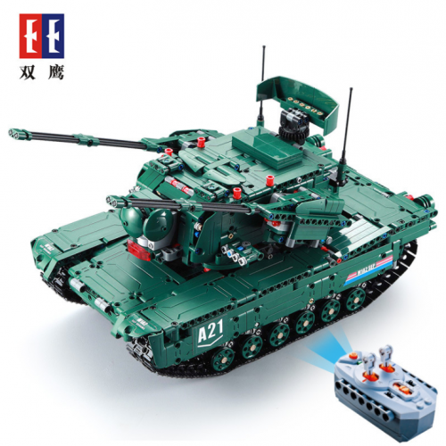 C61001 1498CPS RC Military M1A2 Tank Model Building Blocks Bricks Remote Control Car Compatible WW2 Technic Toys for Kids Ship From China