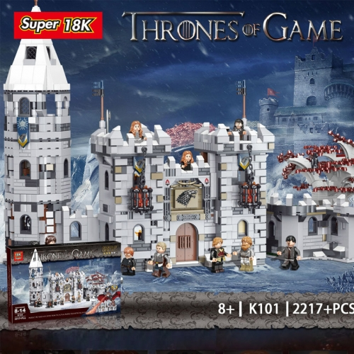 K101 Movie Series Game of Thrones Winterfell Building Blocks 18K Bricks Toys For Gift Ship From China