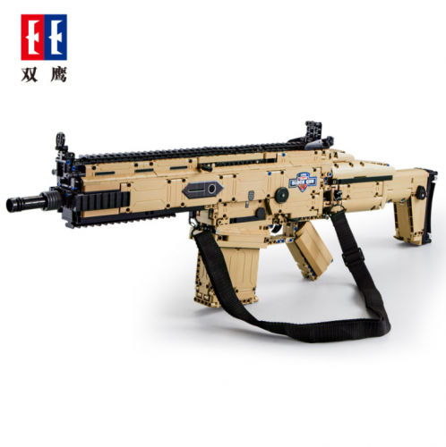 C81021 1406Pcs Military Technic Series the FN SCARS 17S Assault Rifle Model Building Blocks Classic MOC Guns Education Toys Ship From China