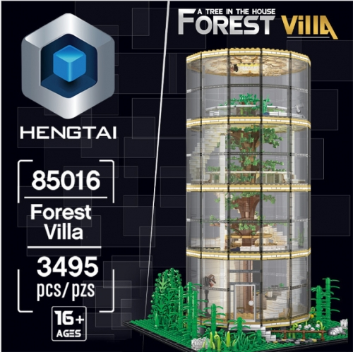 85016 3495pc New Glass Tree House Moc Street View Compatible Lepining Building Model Boy Girl Adult High Difficulty Toy Ship From China