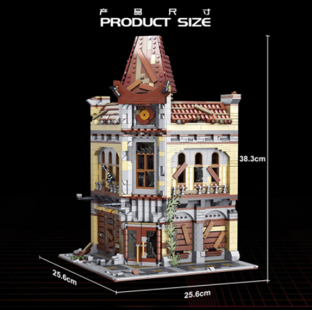 K127 2193Pcs The Last of Us Series The Ruin City Cinema Model Compatible Building Blocks Bricks Kids Christmas Gift Ship From China