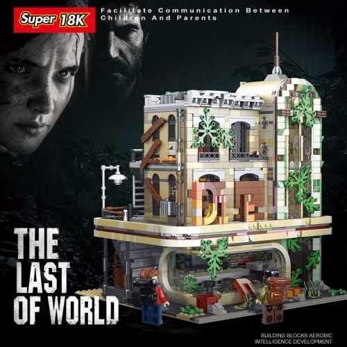 K125  2392Pcs The Last of Us Series The Ruin Restaurant Model Compatible Building Blocks Bricks Kids Christmas Gift Ship From China