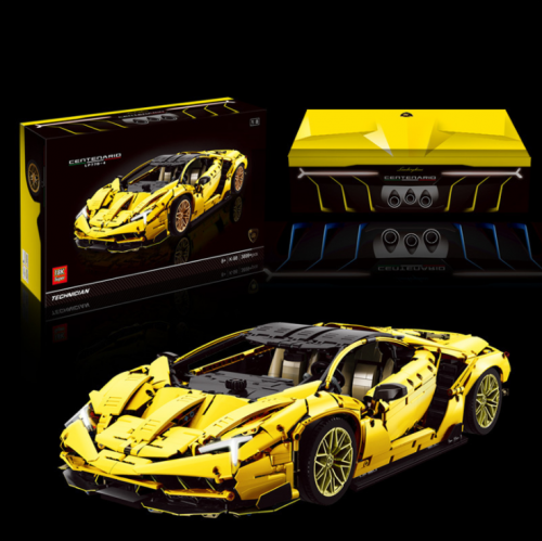 K98Y Yellow LB Centennial Flagship Edition Sports Car Model Assembled Building Block Toys Ship From China