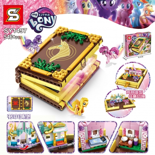 SY1497 546Pcs Pony Fantasy Building Blocks Book Castle Girl DIY Assembled Educational Toy Gift Ship From China