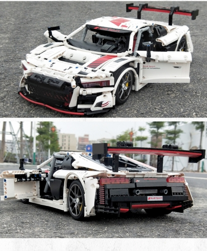 701023 2768Pcs AUDI Sport R8 Building Blocks Racing Toy Ship From China