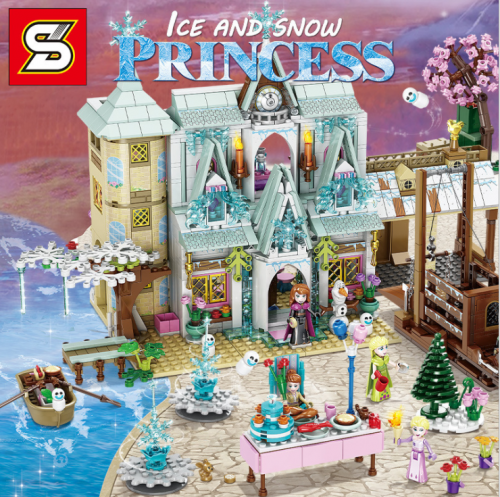 SY1431 1650pcs The Snow Castle  Compatible With Lego Building Blocks Toy Ship From China