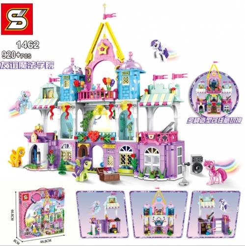 SY1462  920pcs My Little Pony Friendship Magic Academy Building Blocks Toy Ship From China