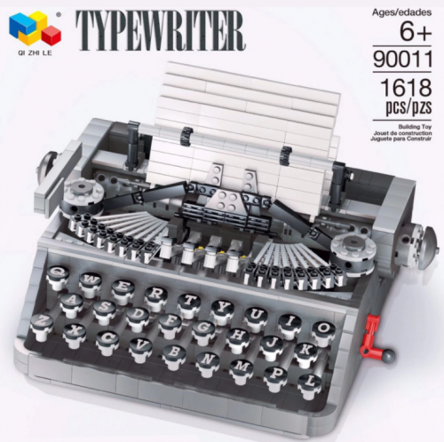 90011 1618pcs Nostalgic MOC Typewriter Model Building Block Toy Ship From China