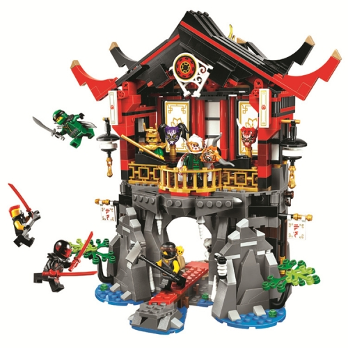 10806 809pcs Temple Of Resurrection Compatible With 70643 Building Block Toy Ship From China