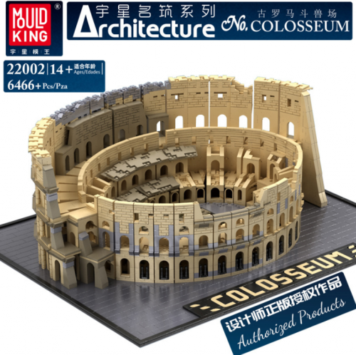 MK 22002 6466pcs Famous Building Series The Colosseum Building Blocks Toy Ship From China 49020