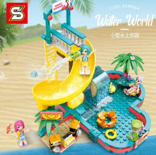 SY6574 257pcs Small Water Park Building Blocks Toy Ship From China