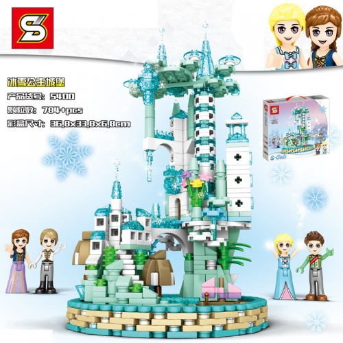 SY5400 784pcs S-girl Ice Castle Building Blocks Toy Ship From China