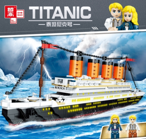 QL0958 1202pcs Movie Series Titanic Model Building Blocks Toy Ship From China