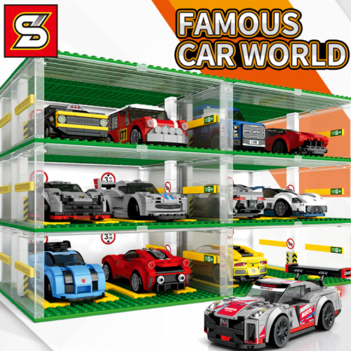 SY5109  Infinitely Extend A Variety Of Car Model Garages Building Blocks 341pcs  Toy Ship From China