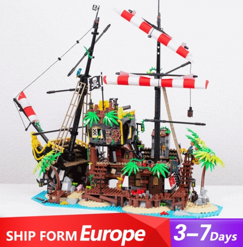 698998 Movie Series Pirates of Barracuda Bay Building Blocks 2545pcs Bricks Ship From Europe 3-7 Days Delivery