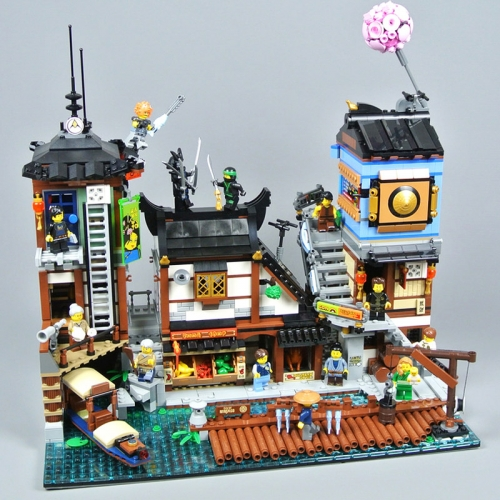 In Stock 06083 Ninja Creator Series The City Docks 3553pcs 10941 Model Building Blocks Bricks Toys 70657 SY1148