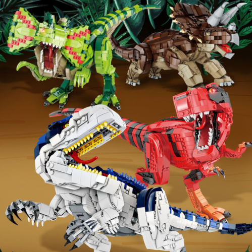 Dinosaur Building Block Model With Simulation Sound Ship From China