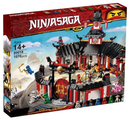 06098 1070pcs  Monastery of Spinjitzu Building Blocks Ship From China 80018