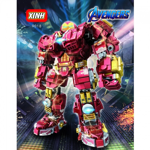 9018 Super British Anti-Hulk Armored Iron Minifigure Mech Model Building Blocks Toy Ship From China