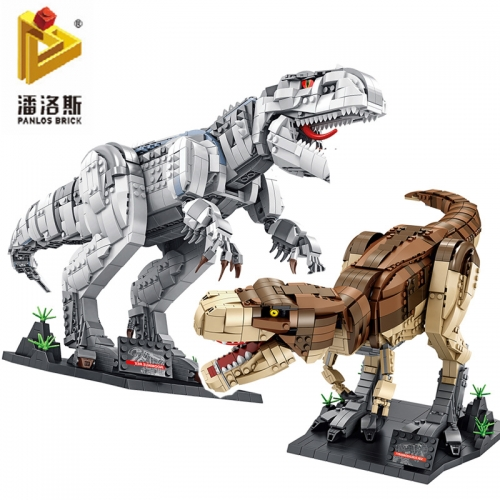 PLS611001-02 Tyrannosaurus Dinosaur Simulation Model Building Block Toy Ship From China