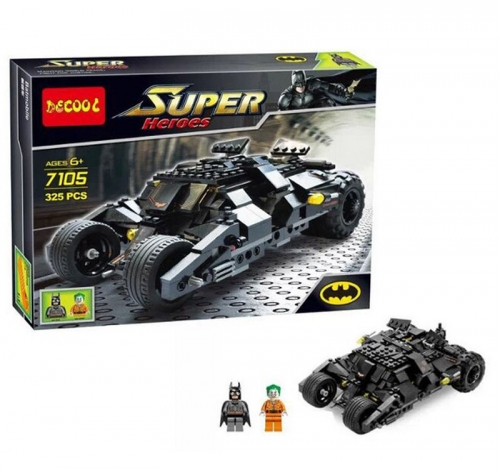 Decool 7105 The Tumbler: Joker's Ice Cream Surprise Batman Car Building Blocks Compatible 7888