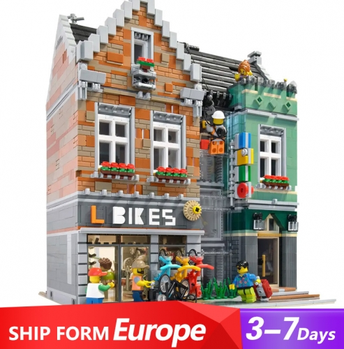 LR10004 Creator Series Bike Shop Building Blocks 3668pcs Bricks Ship From Europe 3-7 Days Delivery