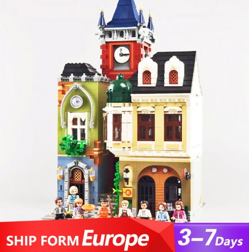 QL0924 Creator Stree View Series Old Town Pub Building Blocks Zhegao Ship From Europe 3-7 Days Delivery