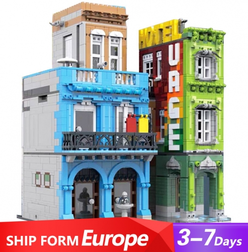Urge-10182 Mork Creator Series Cuba Hotel Building Blocks 4143pcs Bricks Ship From Europe 3-7 Days Delivery