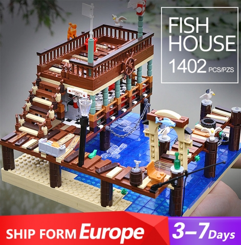 30101 Urge/Mork Fish House Pier Building Blocks 1402pcs Bricks Toys Ship From Europe 3-7 Days Delivery
