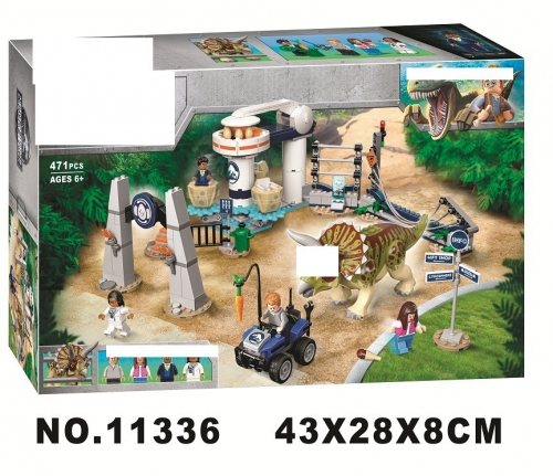 11336 Jurassic Dinosaur Series Triceratops Rampage Building Blocks Ship From China 75937