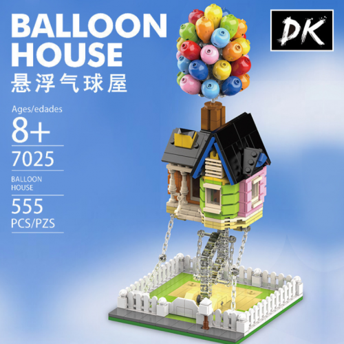 DK7025 555pcs Balloon House Building Blocks Ship From China