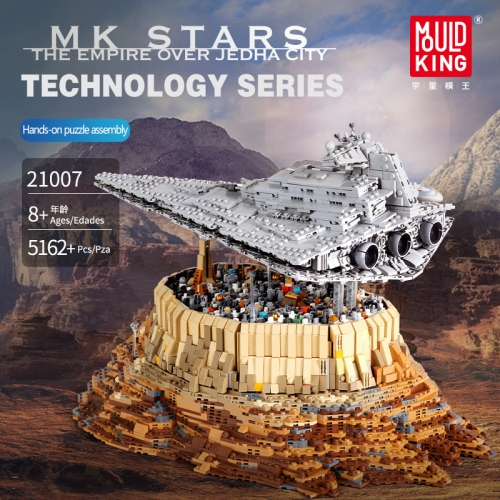 Mould King 21007 Star Wars Series 5162pcs The Empire Over Jedha City Model Building Blocks Brick Kids Toys Gifts MOC-18916 Free Shipping( no tax)