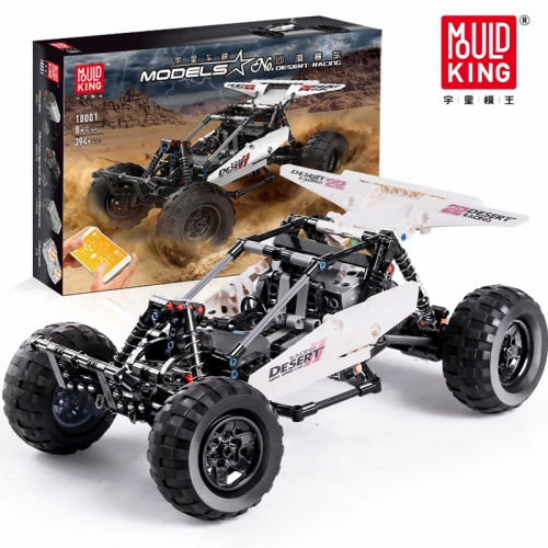 Mould King 18001 Technic Series PF Buggy 2 Model Building Blocks 394pcs Bricks APP Remote Control Children's Toys MOC-1812 Ship From China