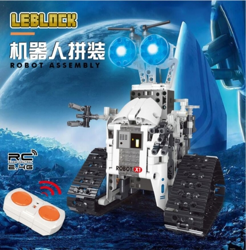 X1 438PCS Technology Machinery Series Remote control robot Building Block Toy Ship From China