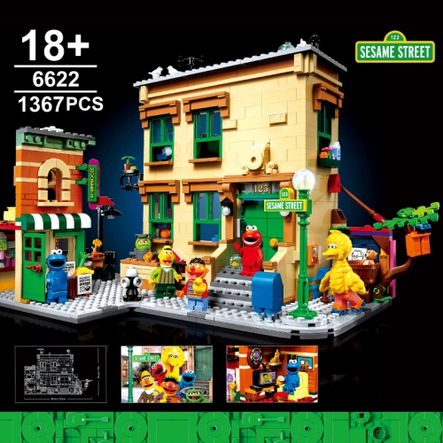 6622 1367PCS Cartoon Toy Street Scene Series Sesame Street Building Block Toy Ship From China