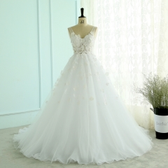 2018 Lace Wedding Dress Sleeveless Real Photo Garden Country Bridal Dresses Vestidos De Noiva Light Travel Beach Wedding Gown WZ01