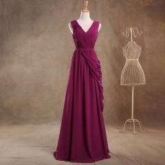 2018 New Style Simple Full Length Chiffon Bridesmaid Dresses BZ02