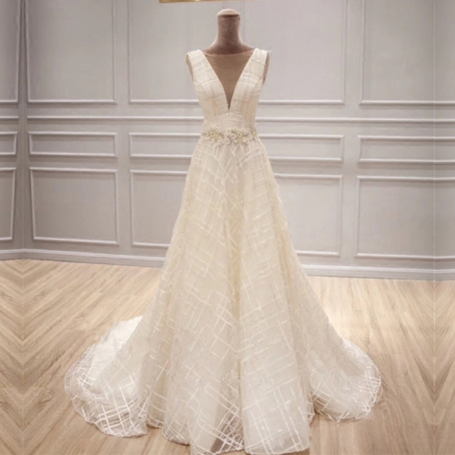 2018 Robe De Mariage Vintage Lace A-line Wedding Dress Bridal Gown WZ31
