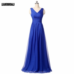 New Style Simple Long Style Chiffon Sequins Lace Bridesmaid Dresses BZ04